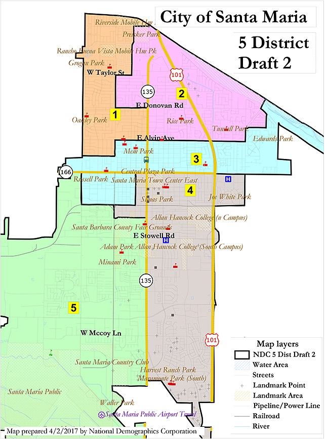 District divisions Santa Maria works to draw district maps for City