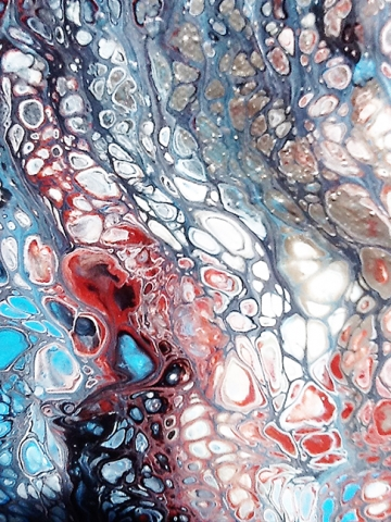 Local Artists Use Acrylic Pour Painting Process To Create