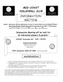 GIRLS VOLLEYBALL CLUB INFORMATION MEETING