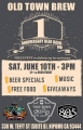 OLD TOWN BREW ANNIVERSARY BEER BASH